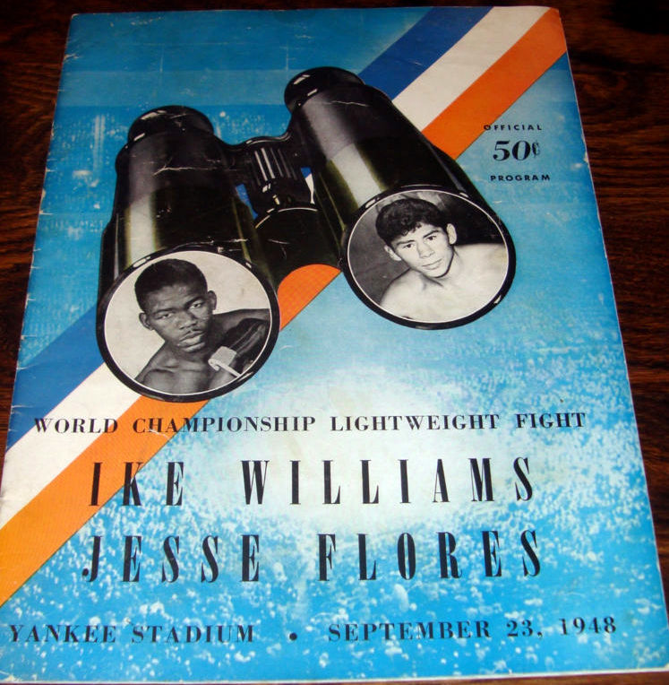 March Ike Williams-Jesse Flores Fight Program.