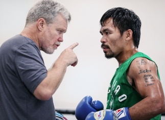 freddie Roach with Manny Pacquaio