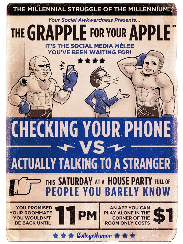 boxing cartoon poster - cell phones