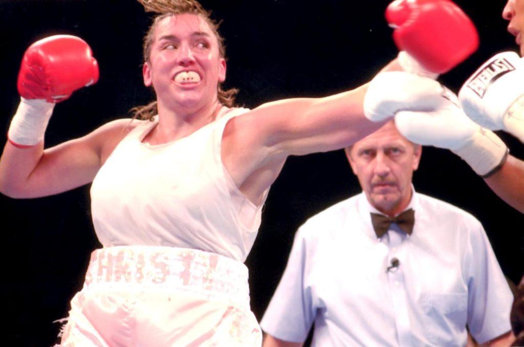 Chrsity Martin nails Laila Ali on August 23, 2003. Ali won by KO 4.