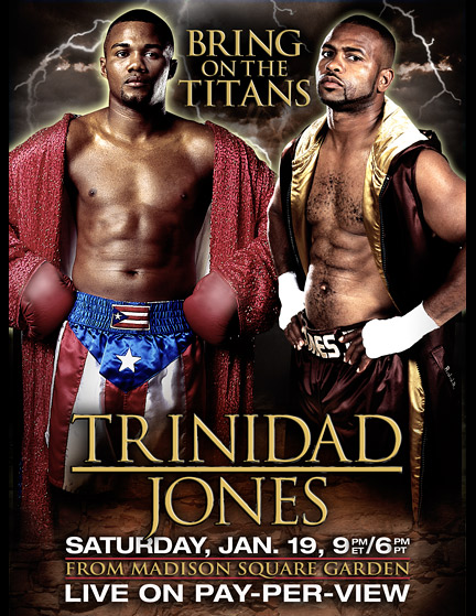 Jones-Trinidad fight poster.