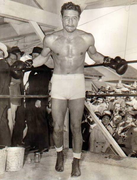 Max Baer Posed in ring.