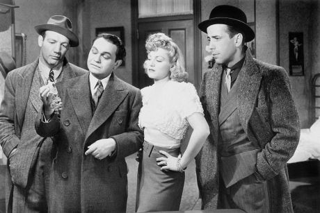 Maxie Rosenbloom with Edward G. Robinson and Humphrey Bogart.