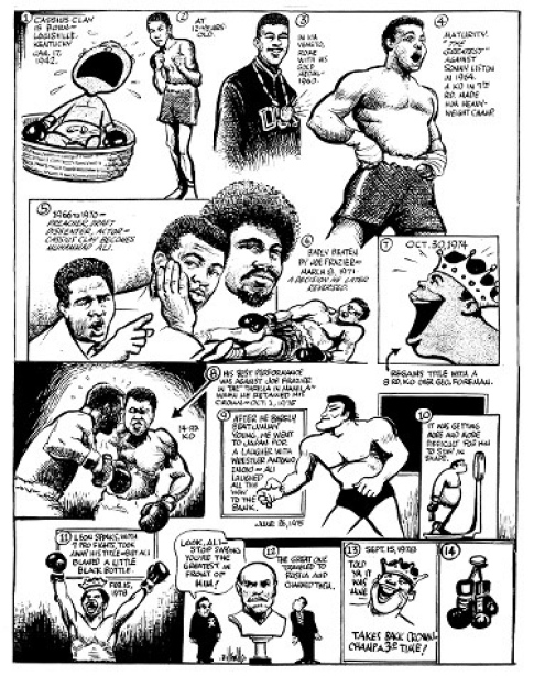 Muhammad Ali New boxing cartoon Ali. Muhammad Ali Richard Dunn slugs it out with Muhammad Ali. (CLICK PHOTO TO VIEW VIDEO)