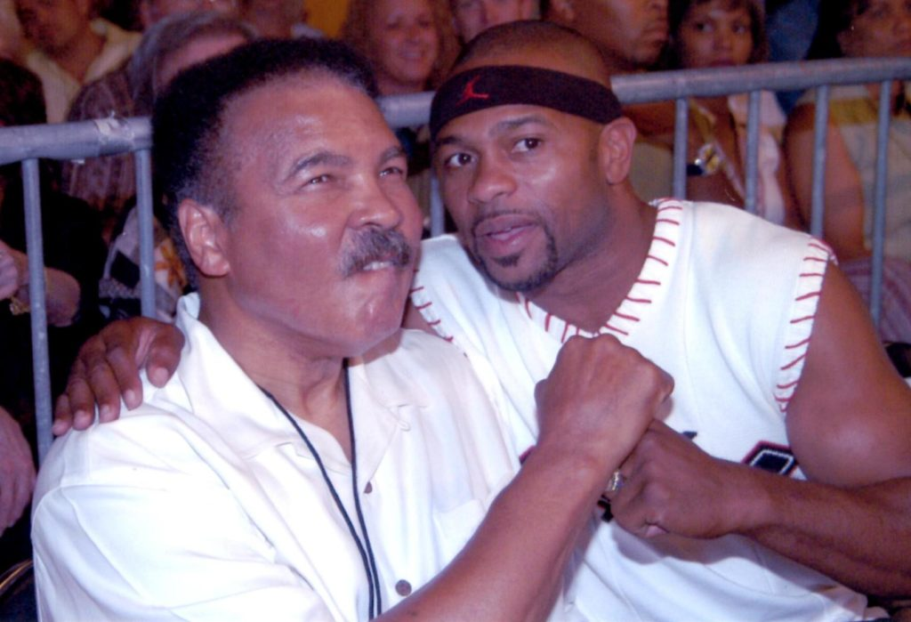 Muhammad Ali and Roy Jones Jr. in 2003.