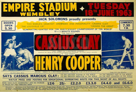 Muhammad Ali vs. Cooper I poster. (CLICK PHOTO TO VIEW VIDEO)