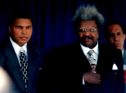 Muhammad Ali and Don King at the first Inductions at the International Boxing Hall of Fame IN 1990 (PHOTO BY ALEX RINALDI)