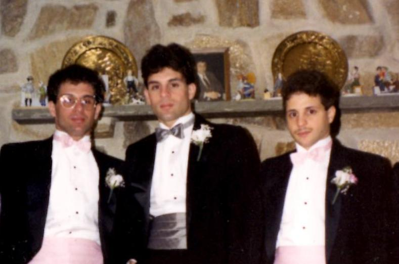 John, Alex, and Gerard Rinaldi in 1988
