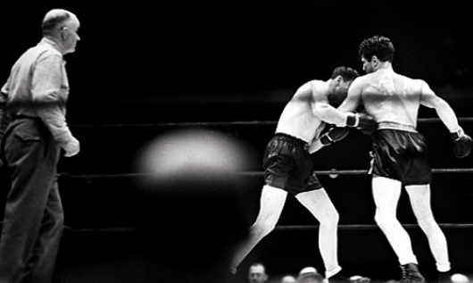 Max Baer knocking out Max Schmeling