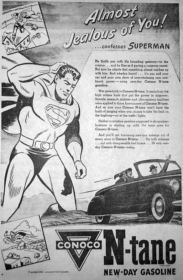Superman Gasoline Ad.