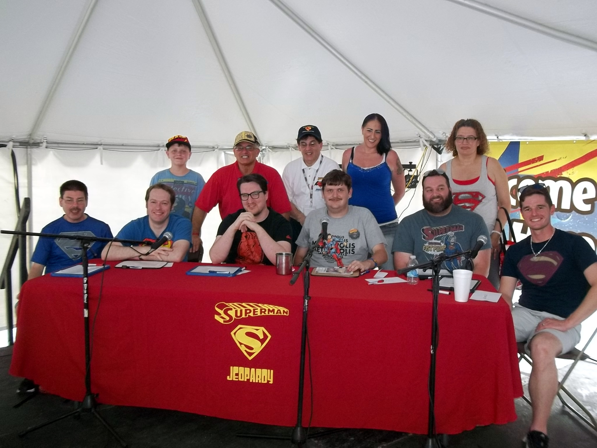 contestants and helpers of the 2016 The USA Boxing News Superman jeopardy Game