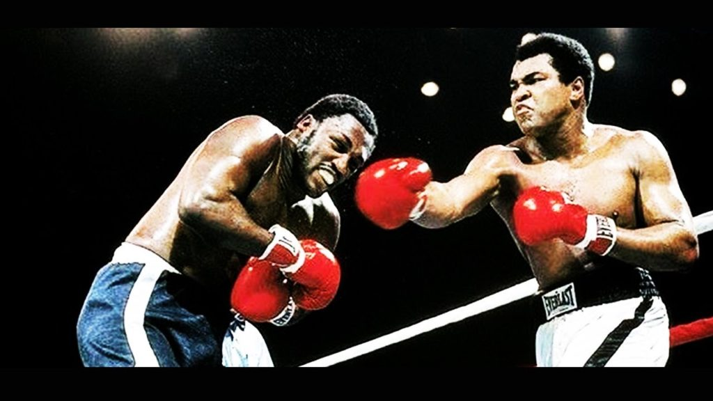 Ali vs. Frazier III fight action