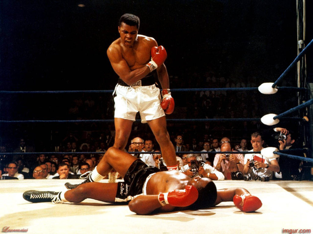 Ali vs. Liston II knockdown.