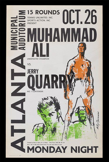 Ali vs. Quarry I fight poster.