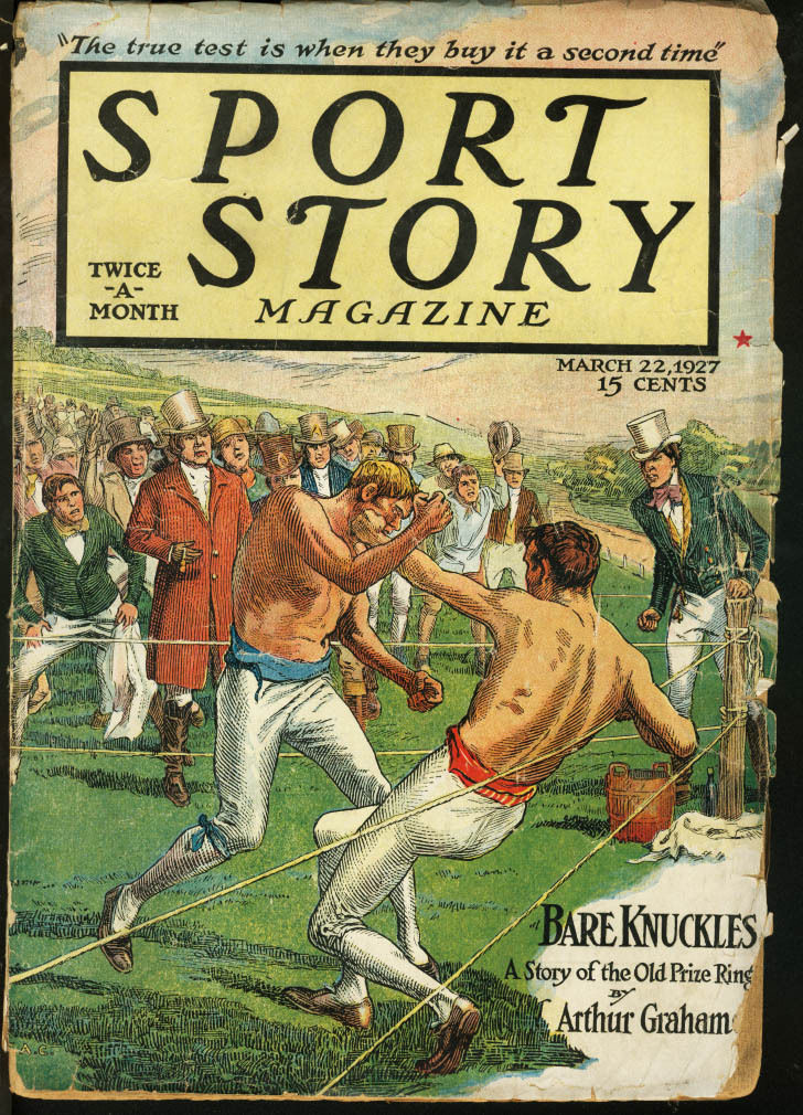 Boxing Cartoon - 1927 Sport Story Magazine.