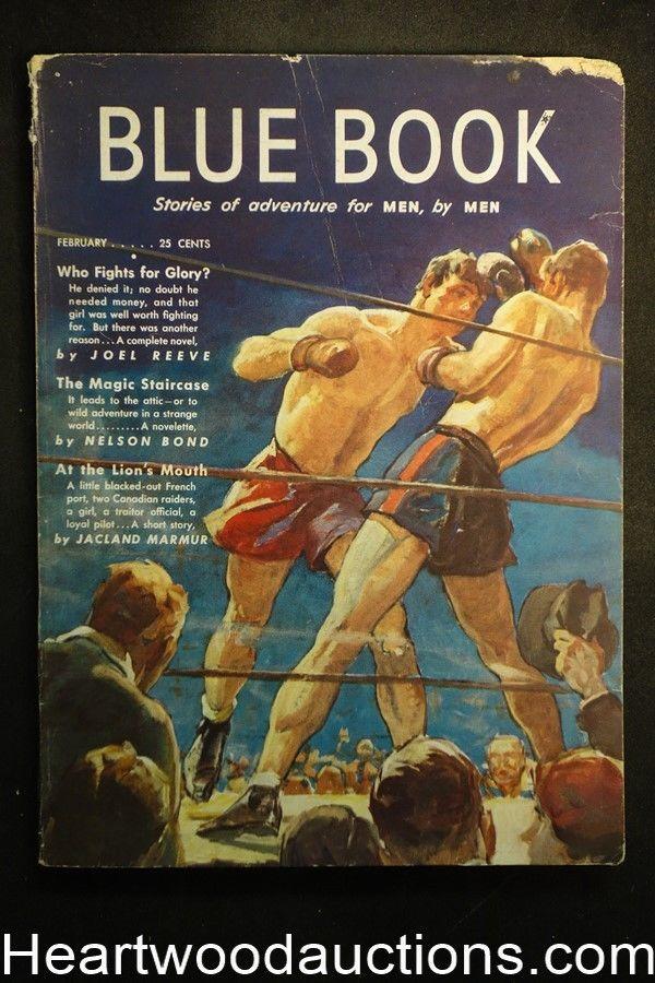 Boxing Cartoon - Blue Book comic 1942.
