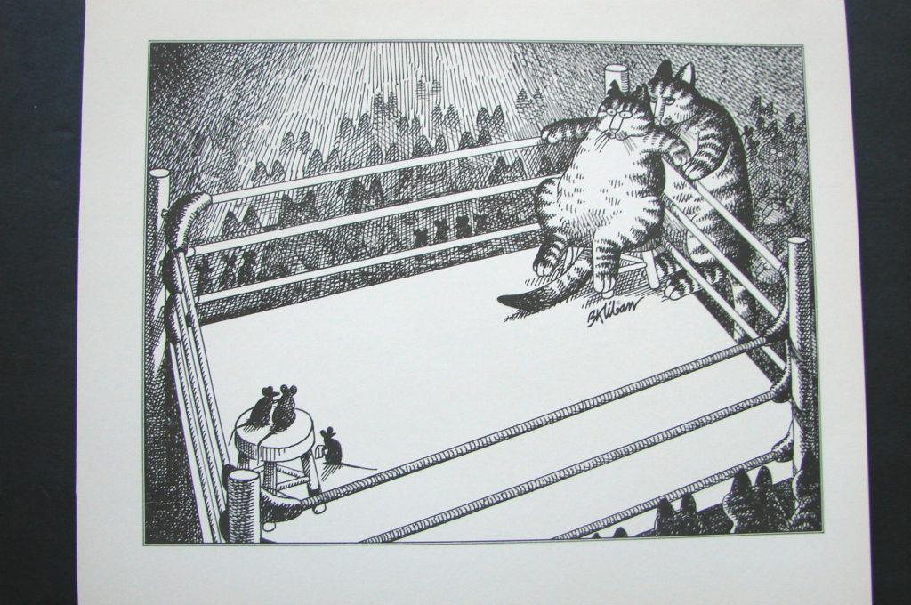 Boxing Cartoon - Cat vs. Mice.