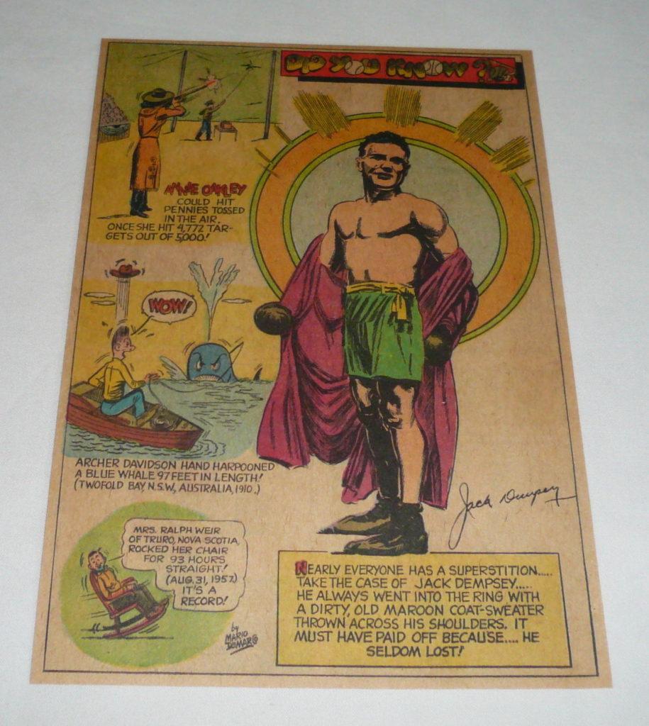 Boxing Cartoon - Jack Dempsey.