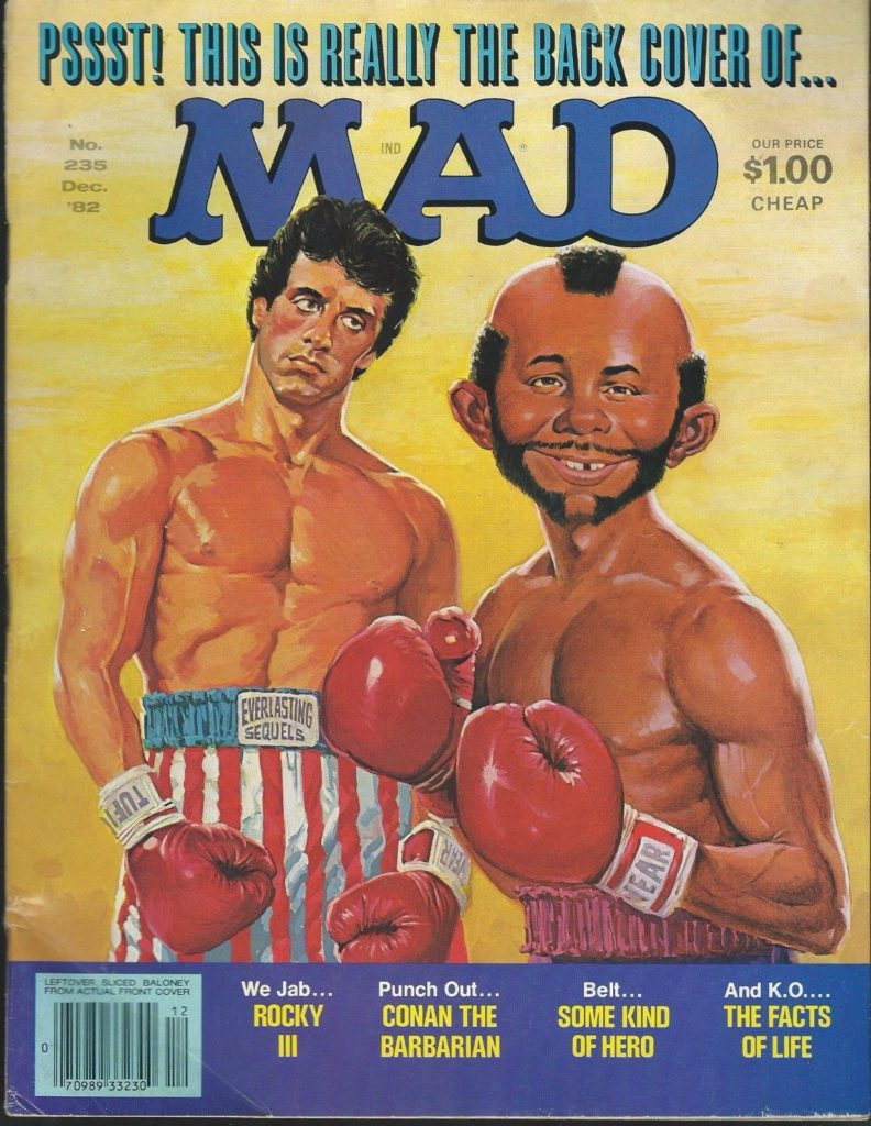 Boxing Cartoon - MAD Magazine Cover.