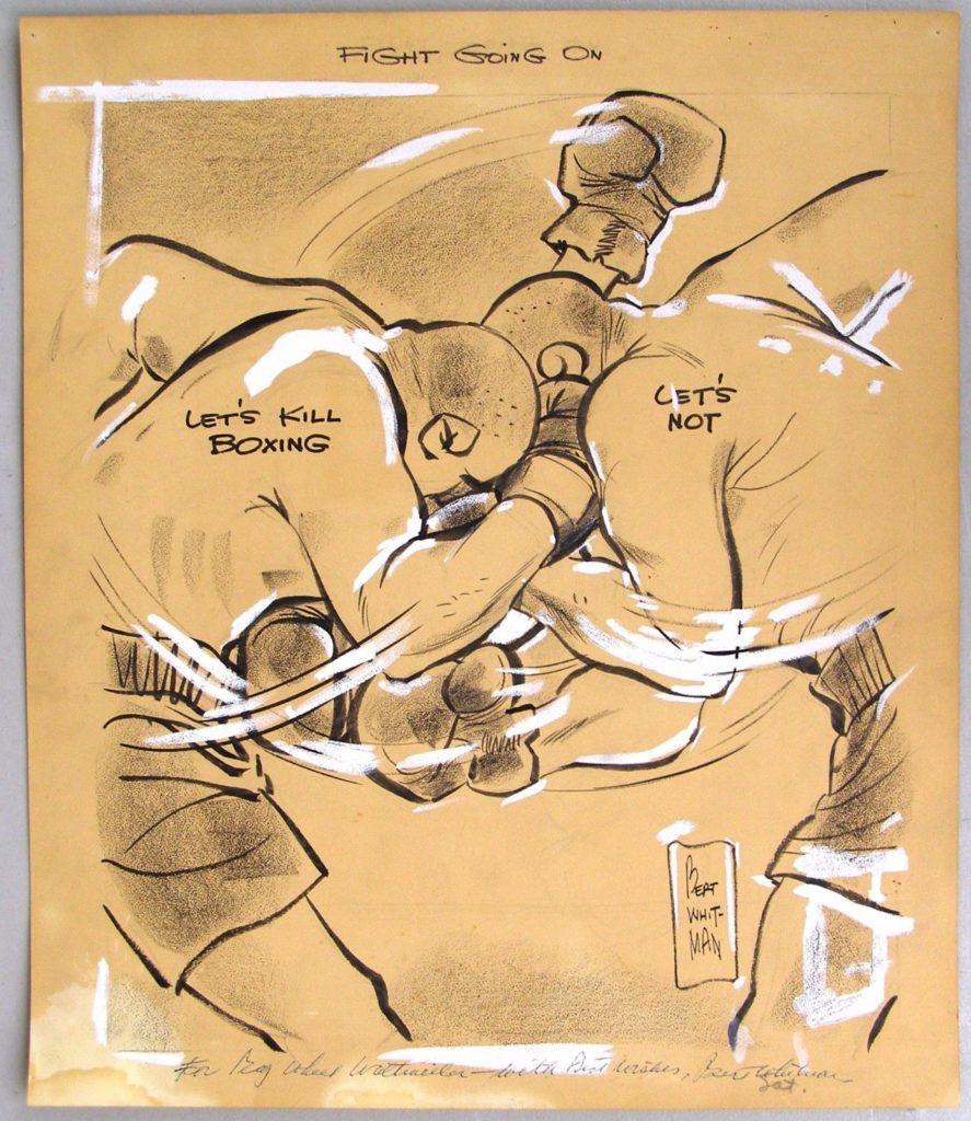 Boxing Cartoon.