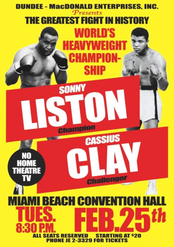 LISTON-CLAY POSTER