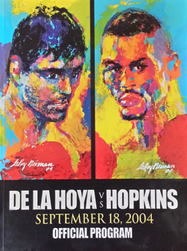 Puglistic program Bernard Hopkins vs. Oscar De La Hoya.