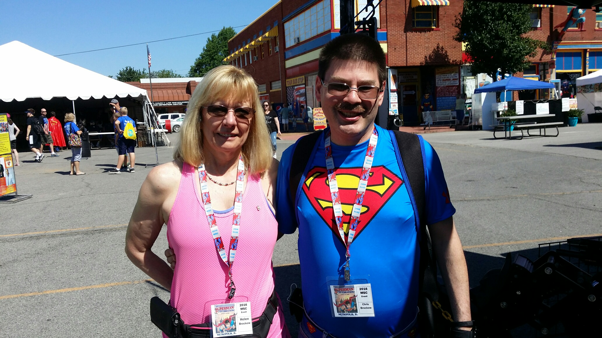 Superman Expert Chris Brockow and his wife Helen