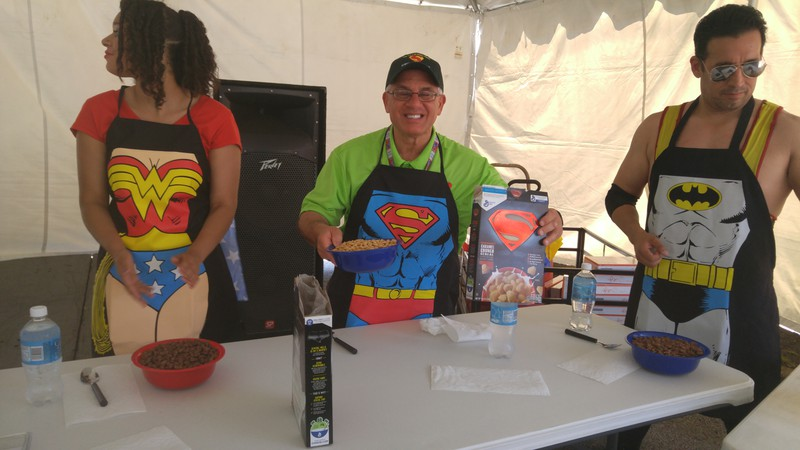 John Rinaldi - the winner of the Superman Cereal Eating Contest