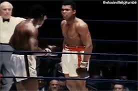 """On February 7, 1967, WBA heavyweight title holder Ernie Terrell (39-4) fought world champion Muhammad Ali (27-0). The fight is most noted for Ali yelling at Terrell """"what's my name?"""" during the eighth"""