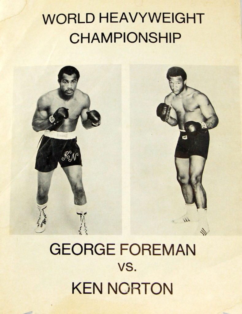 AUGUST2016George Foreman vs. Ken Norton poster.