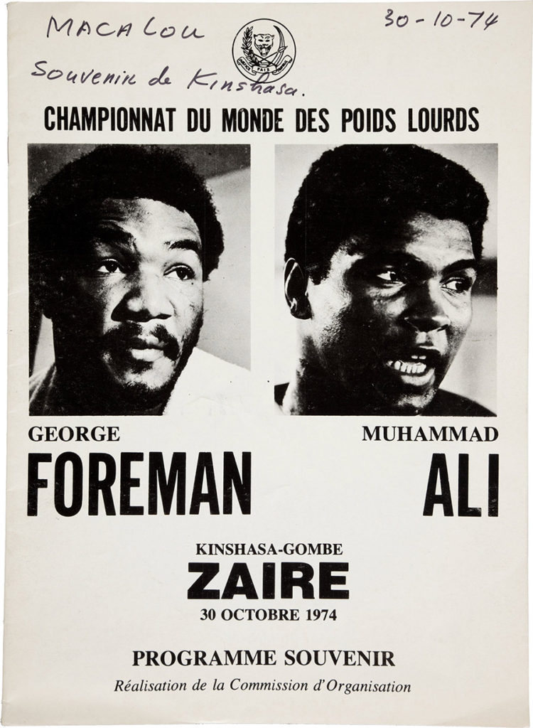 AUGUST2016George Foreman vs. Muhammad Ali program.