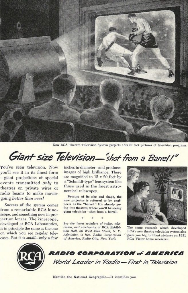 Boxing Ad 1951 RCA Television.