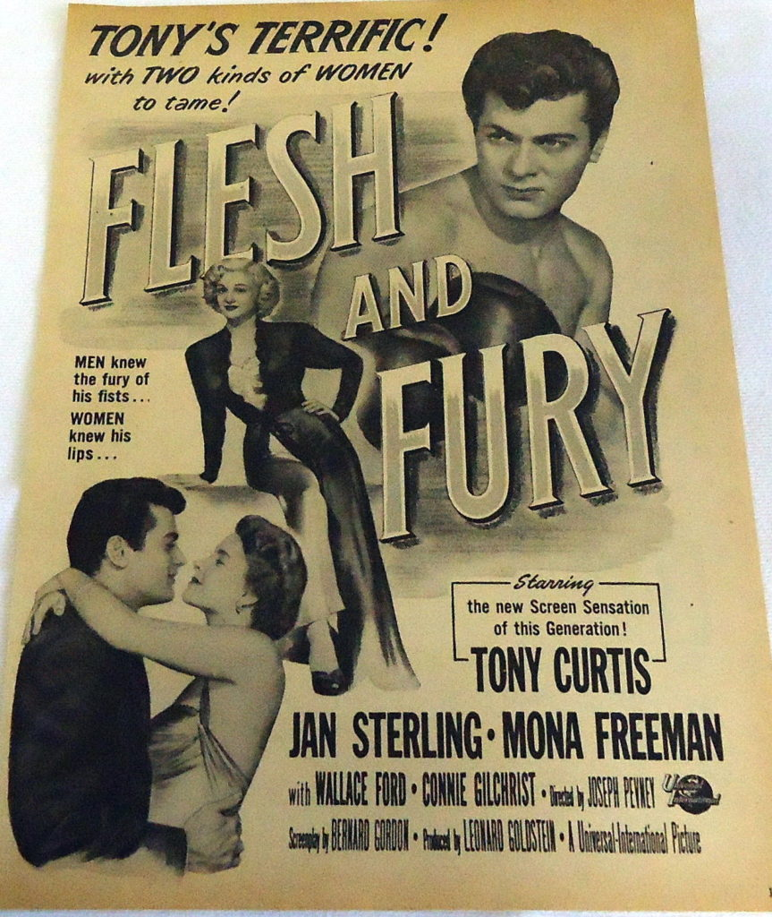 Boxing Movie Poster - Flesh and Fury 1952.
