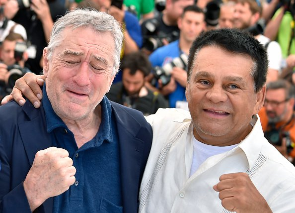 Actor Robert DeNiro (L) with Roberto Duran (R)