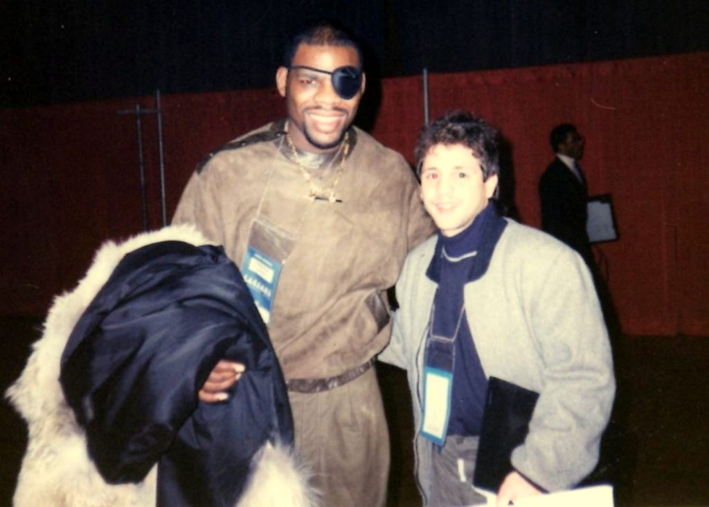 """Gerard with former WBC Middleweight, IBF Super Middleweight, and WBA Light heavyweight champion Iran """"The Blade"""" Barkely"""