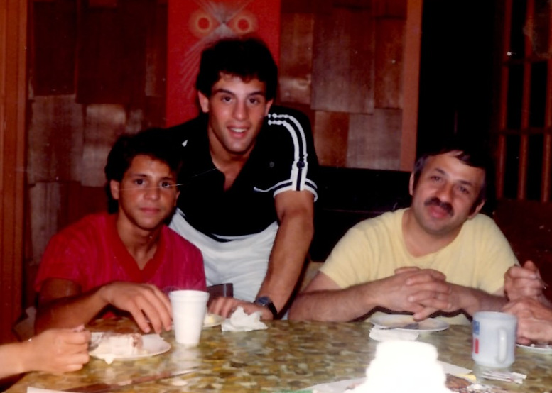 Gerard (L), Alex (Center) and Joseph Rinaldi (R) in 1982