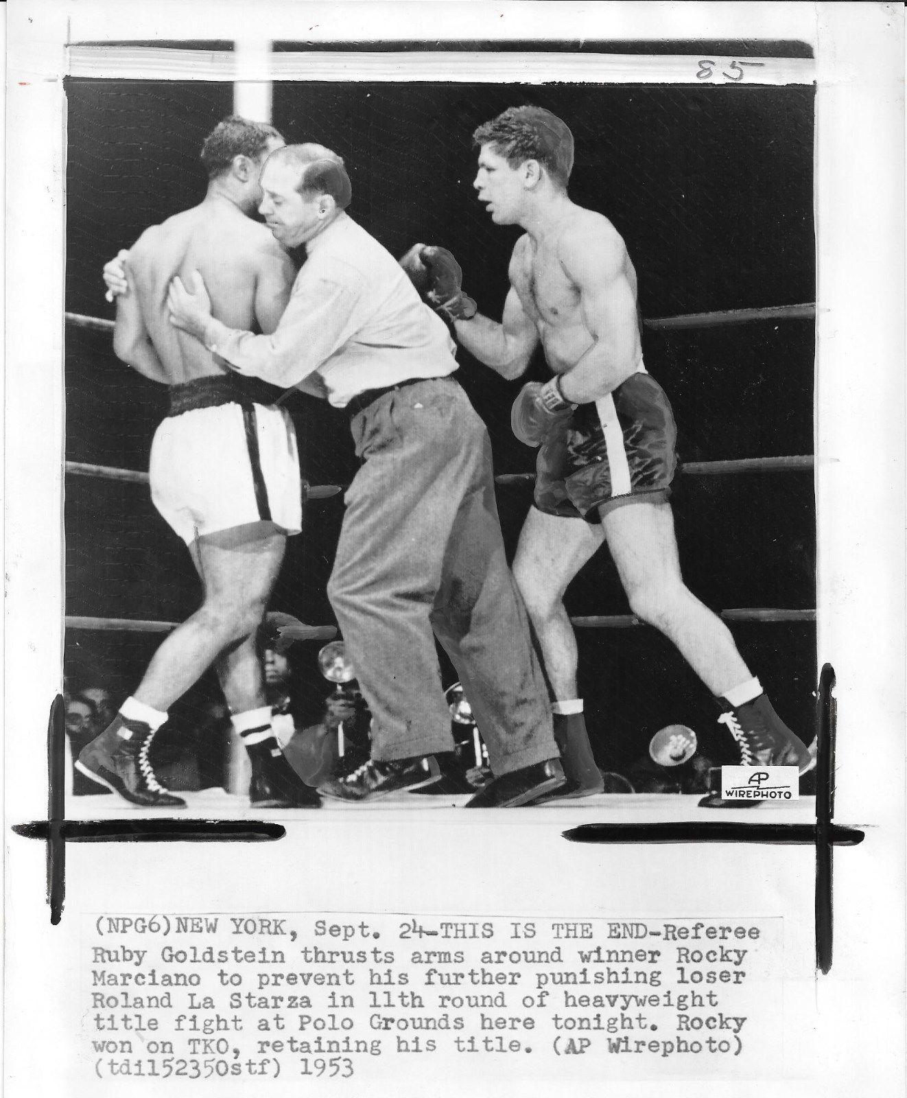 Rocky Marciano v Walcott Door Poster of program cover