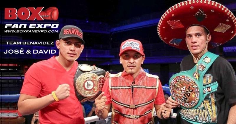 WBC Super Middleweight Champion Davis Benavidez and former WBA Lightweight Champion José Luis Benavidez