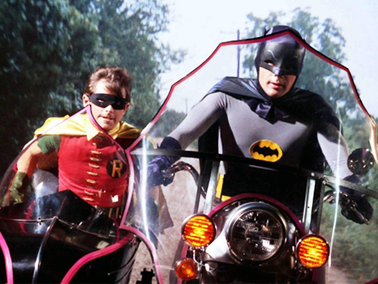 Burt Ward as Robin and Adam West as Batman