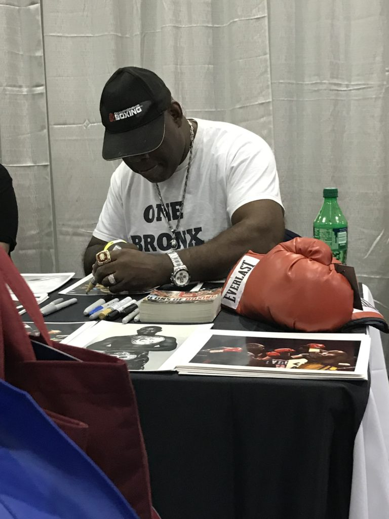 Iran Barkley signing autographs at a personal appearance