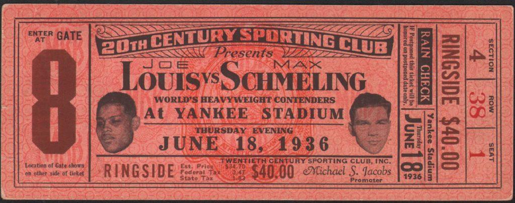 Louis-Schmeling II ticket