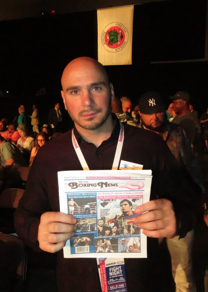 Former middleweight champion Kelly Pavlik with The USA Boxing News