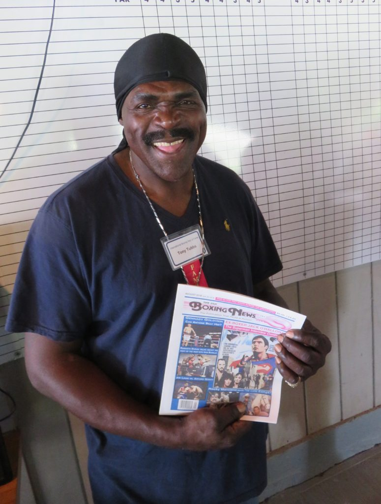 Former heavyweight champion Tony Tubbs with The USA Boxing News