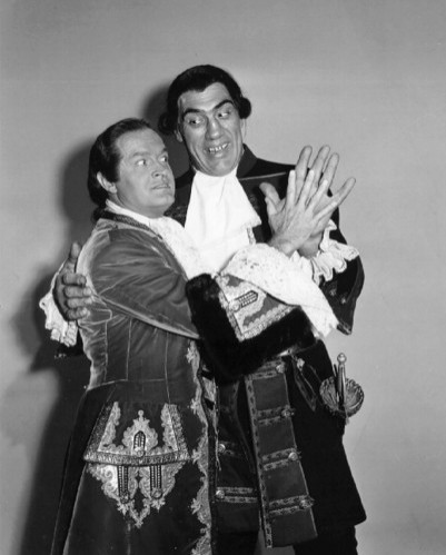 Bob Hope and Primo Carnera in CASANOVA'S BIG NIGHT.