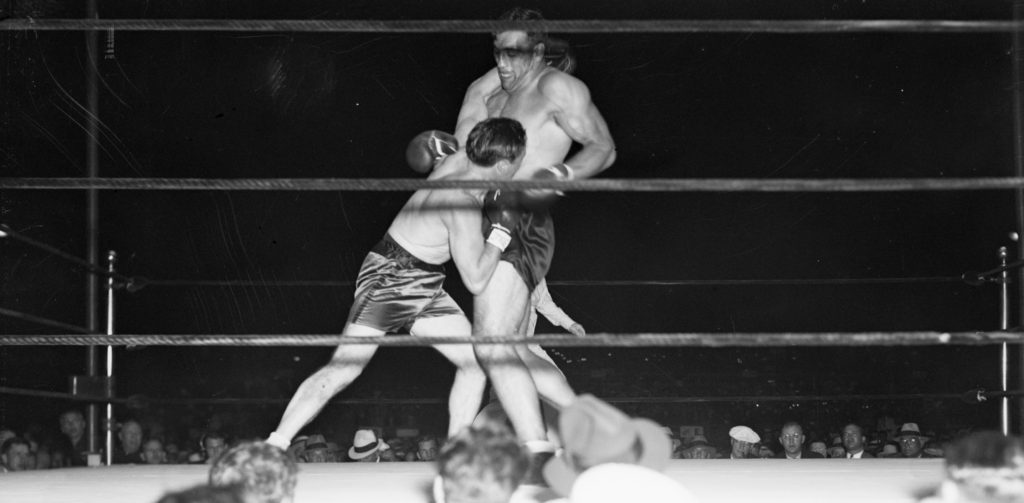 Primo Carnera and Tommy Loughran slug it out.