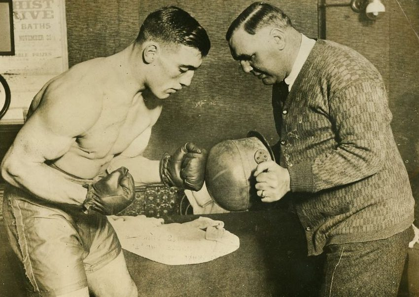 Primo Carnera works out.