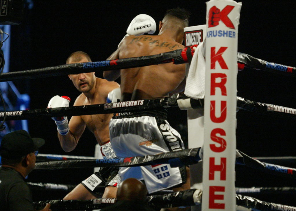 Kovalev (L) looking for an opening.