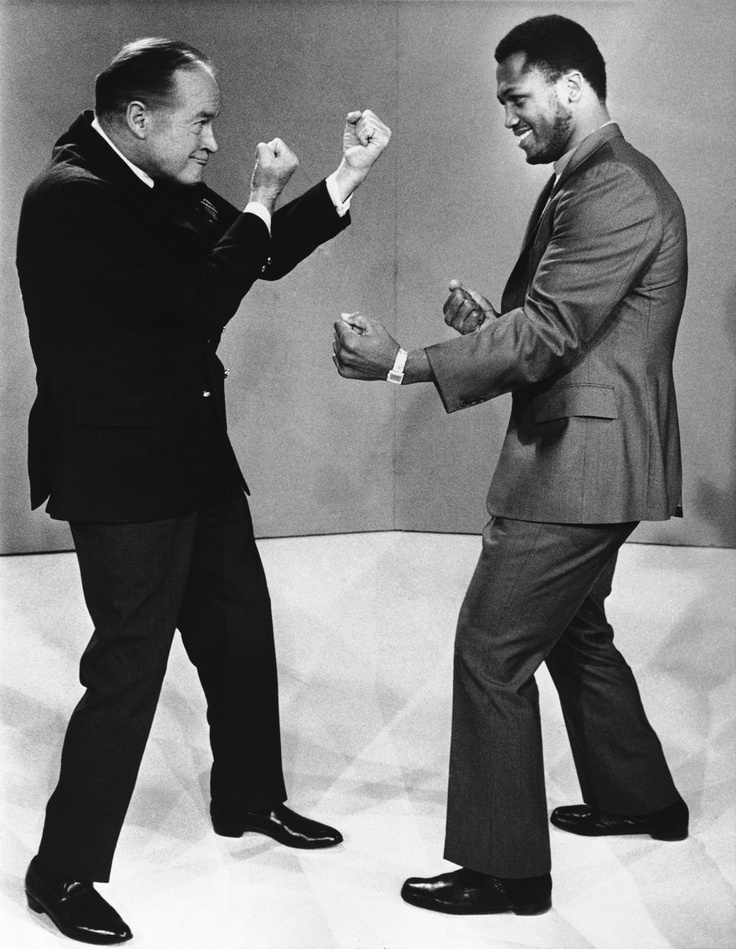 BOB HOPE AND JOE FRAZIER.