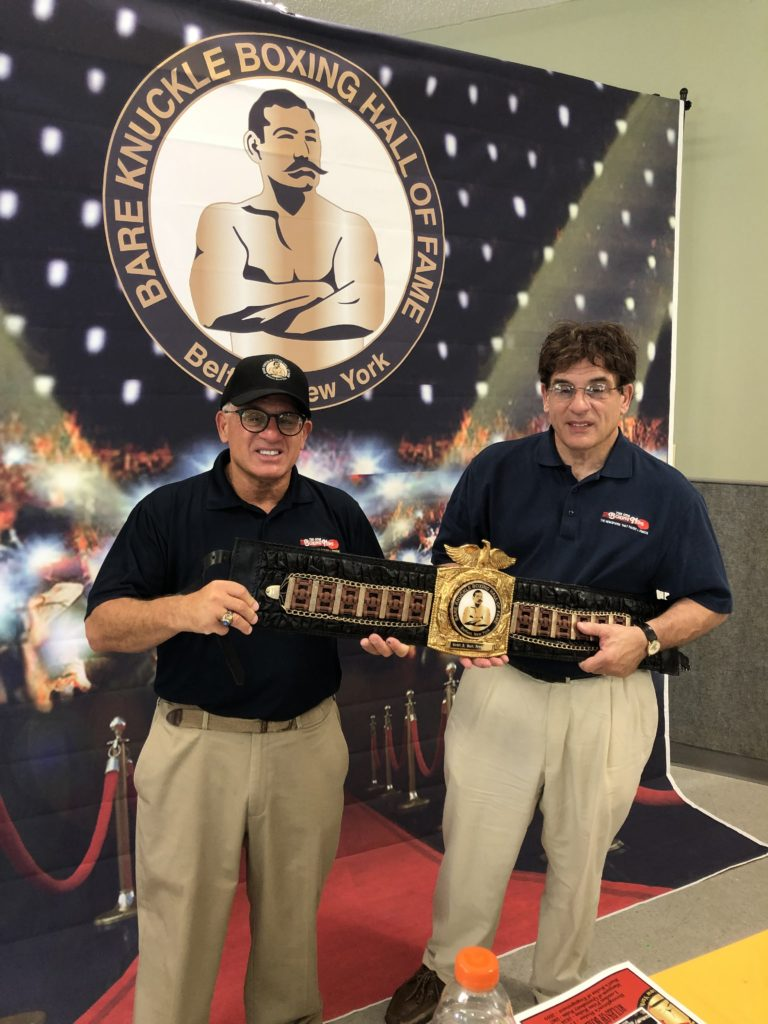 John and Alex Rinaldi are awarded the President's Belt for their lifetime contribution to the sport of boxing.