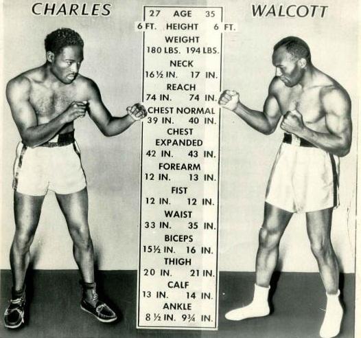 Ezzard Charles Jersey Joe Walcott Incredible POSTER